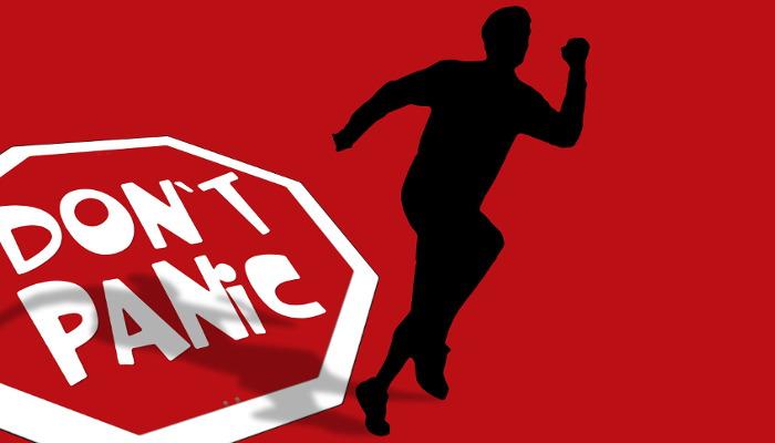 Картинки по запросу don't panic logo