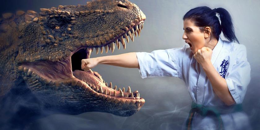 Woman fighting